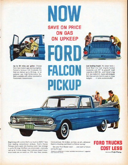 1961 Ford Falcon Vintage Ad Quot Ford Falcon Pickup Quot