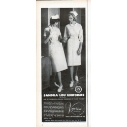"1961 Sandra Lou Uniforms Ad ""Save washing time"""