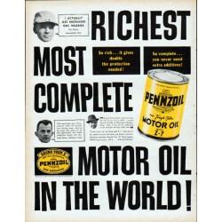 """1961 Pennzoil Ad """"Richest"""""""