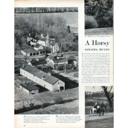 "1961 Kennedys Article ""Horsy Hideaway"""