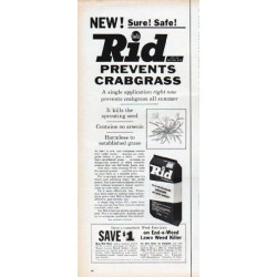 "1961 Swift's Rid Ad ""Prevents Crabgrass"""