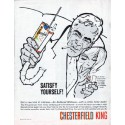"1961 Chesterfield Cigarettes Ad ""Satisfy Yourself"""
