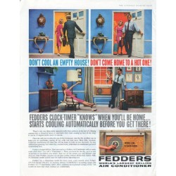 "1961 Fedders Air Conditioner Ad ""Don't Cool An Empty House"""