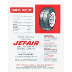 "1961 General Tire Ad ""Owners' Report"""