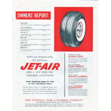"""1961 General Tire Ad """"Owners' Report"""""""