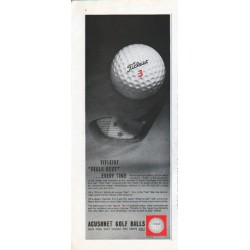 "1961 Acushnet Golf Balls Ad ""Feels Best"""