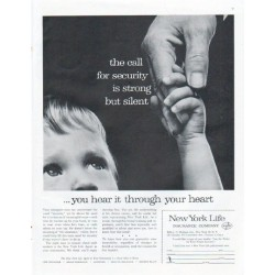 "1961 New York Life Insurance Company Ad ""call for security"""