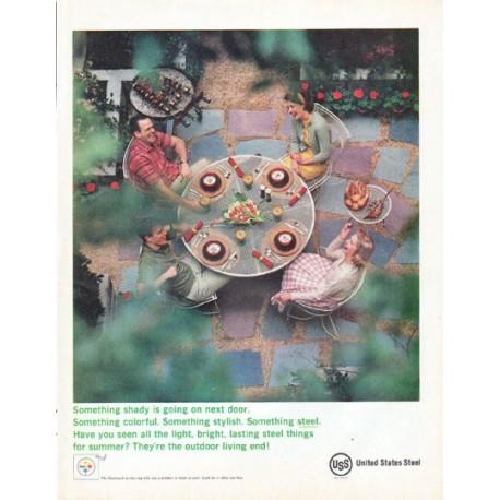 "1961 United States Steel Ad ""Something shady"""