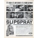 "1961 Du Pont Slipspray Ad ""Stainless Dry Lubricant"""