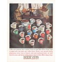 "1961 Dixie Cups Ad ""Coffee men"""