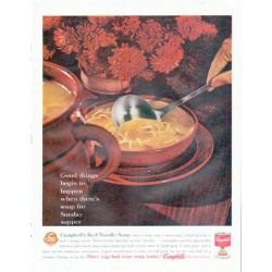 "1961 Campbell's Soup Ad ""soup for Sunday supper"""