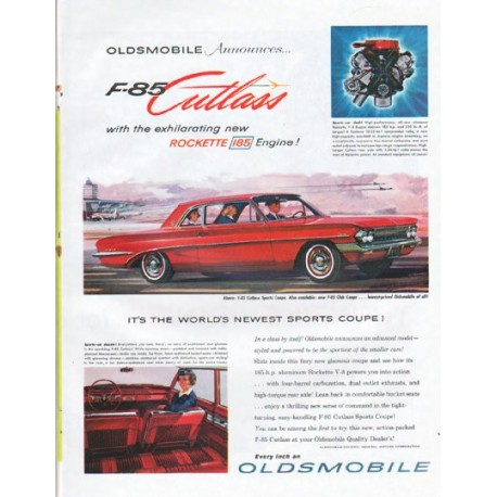 "1961 Oldsmobile Ad ""F-85 Cutlass"""