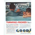 "1961 Goodyear Tires Ad ""Turnpike-Proved"""