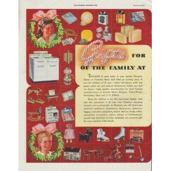 "1942 Firestone Ad ""Gifts for every member of the family at Firestone"""