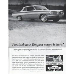 "1961 Pontiac Tempest Ad ""new Tempest coupe"""