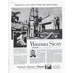 "1961 Employers Mutuals of Wausau Ad ""Explosives and echoes"""