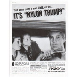 "1961 Tyrex Tires Ad ""Nylon Thump"""
