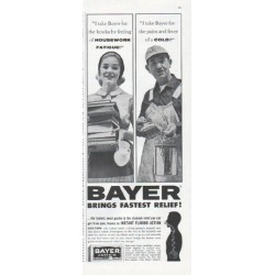 "1961 Bayer Aspirin Ad ""Housework Fatigue"""