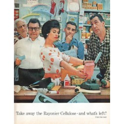 "1961 Rayonier Cellulose Ad ""what's left"""