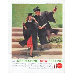 "1961 Coca-Cola Ad ""Refreshing New Feeling"""
