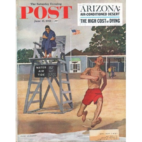"1961 Saturday Evening Post Cover Page ""Smiley"" ... June 17, 1961"