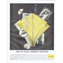 "1961 Yellow Pages Ad ""A Perfect Vacation"""