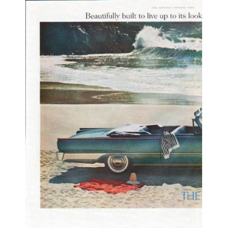 "1961 Ford Sunliner Ad ""Beautifully built"""