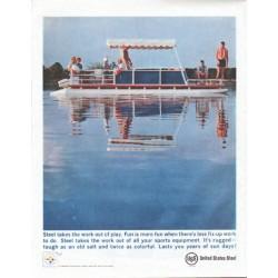 """1961 United States Steel Ad """"Fun is more fun"""""""