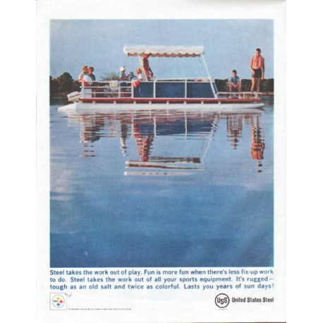 "1961 United States Steel Ad ""Fun is more fun"""