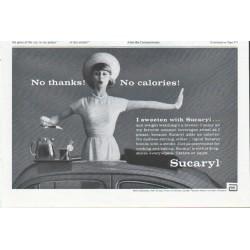 "1961 Sucaryl Ad ""No thanks"""