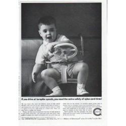 "1961 Chemstrand Ad ""turnpike speeds"""