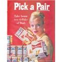 """1961 Budweiser Ad """"Pick a Pair"""""""