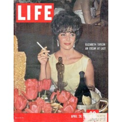 "1961 LIFE Magazine Cover Page ""Elizabeth Taylor"" ... April 28, 1961"