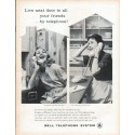 """1961 Bell Telephone System Ad """"Live next door"""""""