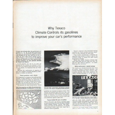 "1961 Texaco Ad ""Climate-Controls"""