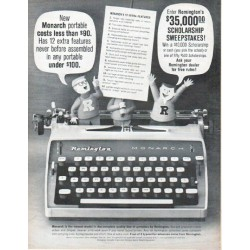 "1961 Remington Typewriter Ad ""New Monarch"""