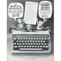 "1961 Remington Typewriter Ad ""New Monarch"""