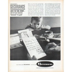 "1961 Nationwide Insurance Ad ""Securance"""