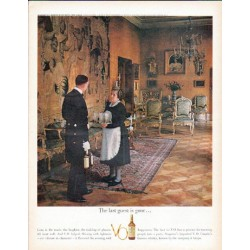 "1961 Seagram's V.O. Canadian Whisky Ad ""The last guest"""