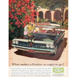 "1961 Pontiac Catalina Ad ""eager to go"""