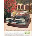"""1961 Pontiac Catalina Ad """"eager to go"""""""