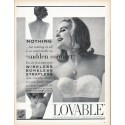 "1961 Lovable Brassiere Ad ""sudden comfort"""