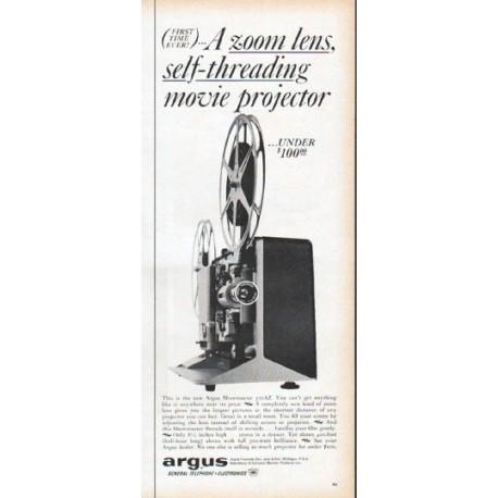 """1961 Argus Cameras Ad """"A zoom lens"""""""