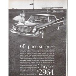 "1961 Chrysler Newport Ad ""price surprise"""