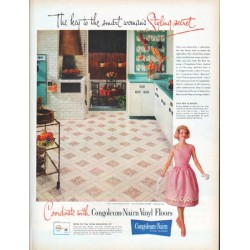 "1961 Congoleum-Nairn Fine Floors Ad ""Styling secret"""