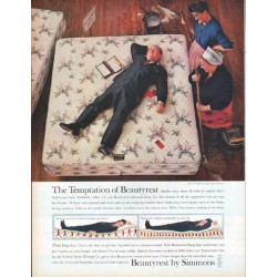 "1961 Simmons Beautyrest Ad ""The Temptation of Beautyrest"""
