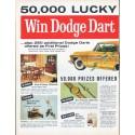 "1961 Dumas Milner Ad ""Win Dodge Dart"""