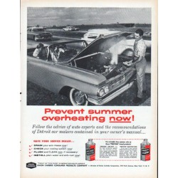 "1961 Union Carbide Ad ""summer overheating"""