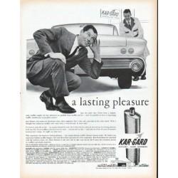 "1961 Kar-Gard Ad ""a lasting pleasure"""
