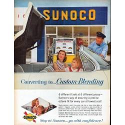 "1961 Sunoco Ad ""Custom-Blending"""